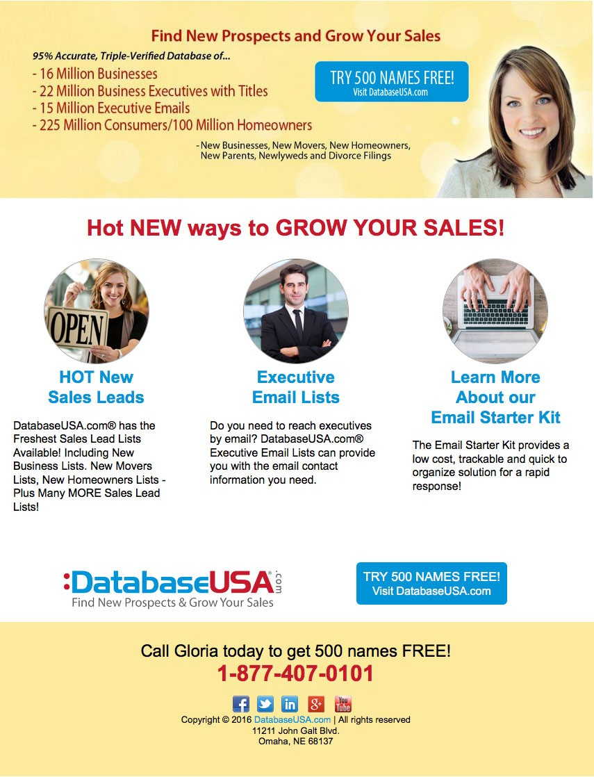 Try 500 Leads Free - Mailing Lists | Email Marketing | Business ...