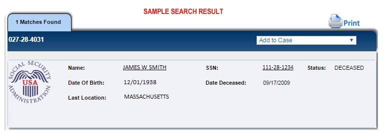 Death Records Search