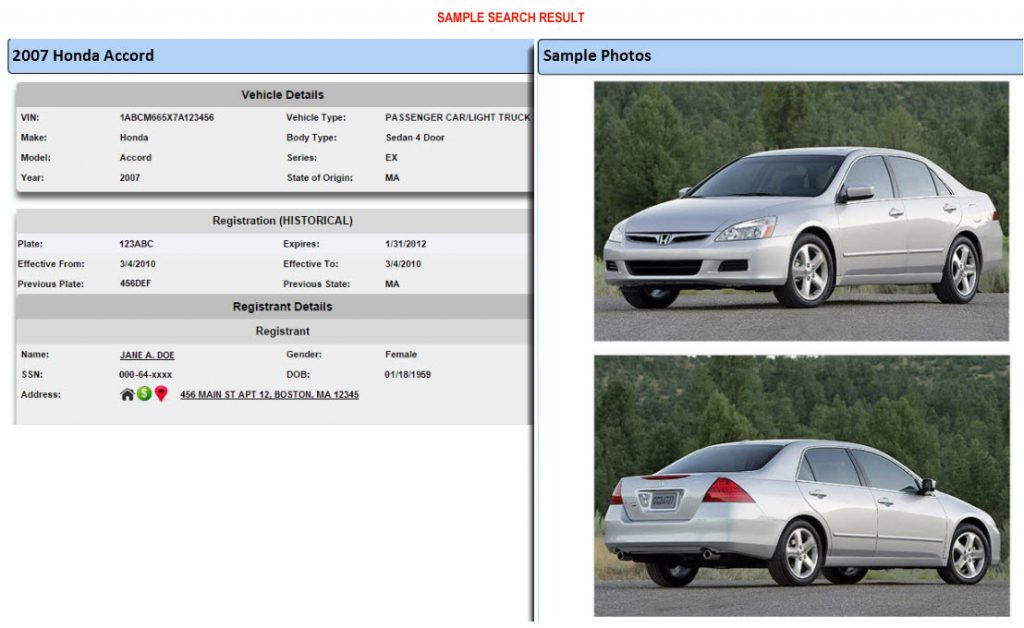 Motor Vehicles Search Report